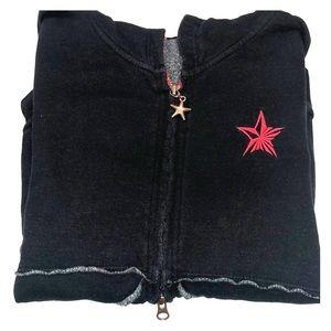 Black Zip-up Hoodie Sweatshirt
